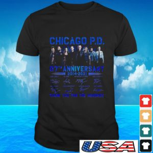 Chicago P.D 07th anniversary 2014-2021 thank you for the memories t-shirt