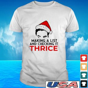 David Rose making a list and checking it thrice Christmas t-shirt