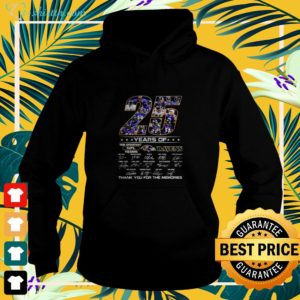 25 year of the greatest NFL teams Ravens signature thank you for the memories hoodie