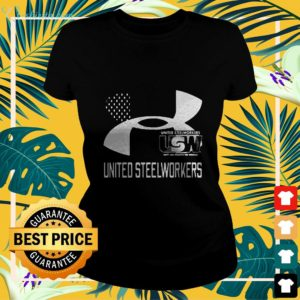 United Steelworkers Unity And Strength For Workers Flag ladies-tee