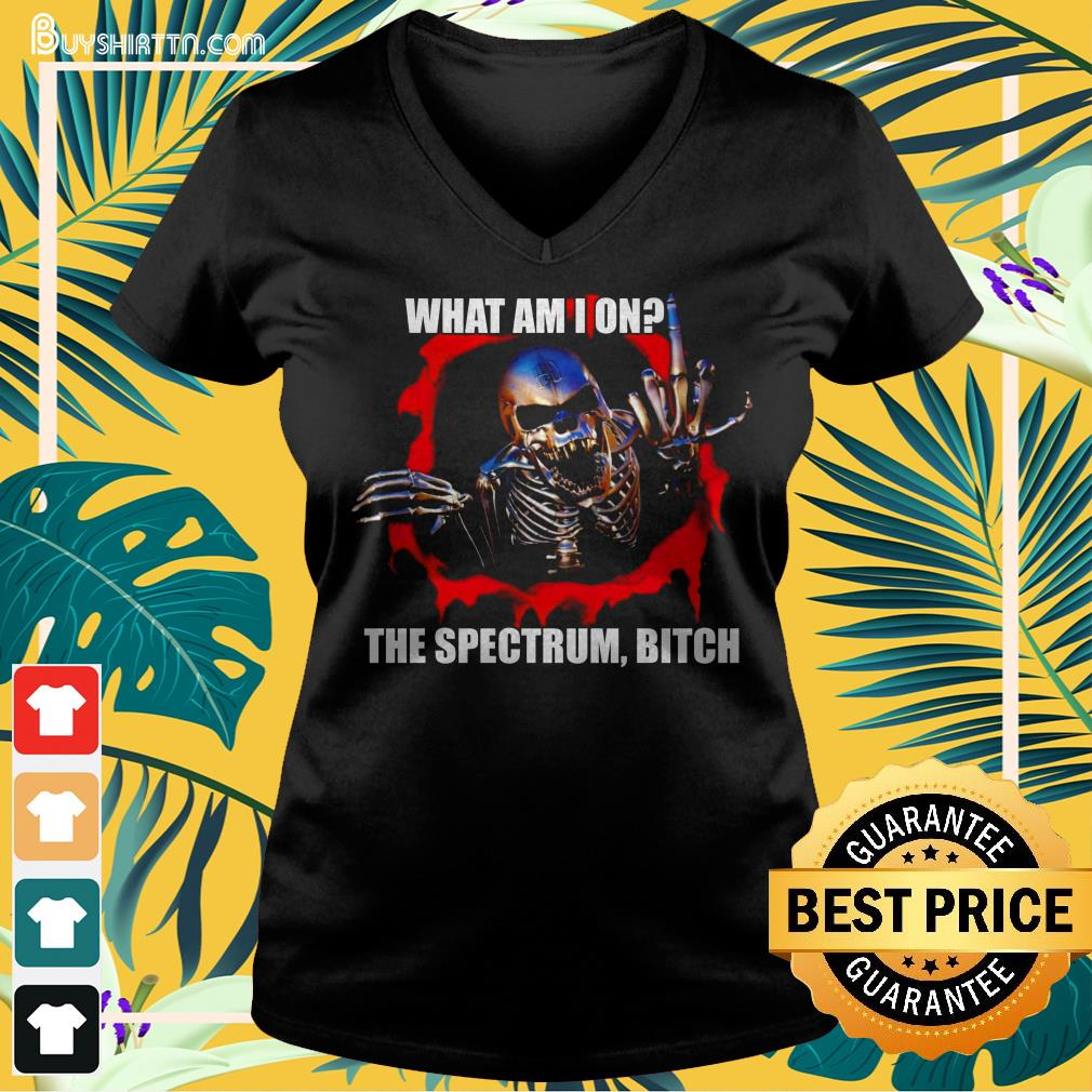 What am I on the spectrum bitch V-neck t-shirt
